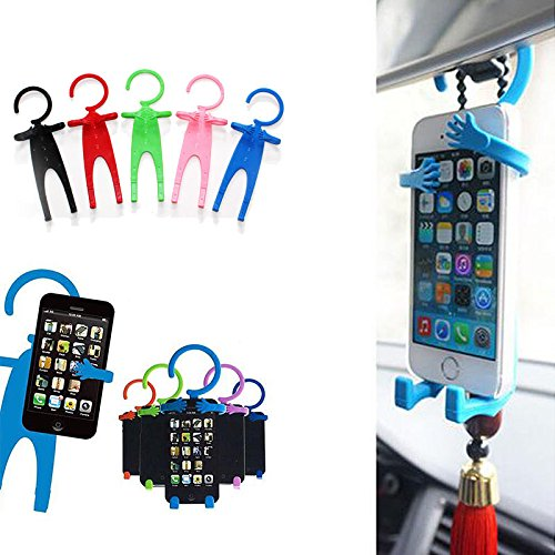 MAZIMARK--Funny Man Car Cell Phone Holder Universal Silicon Phone Stand Flexible Car Tools