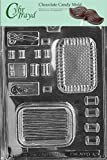 Cybrtrayd D042 Chocolate Candy Mold, Sewing Kit Pour Box Dads and Moms