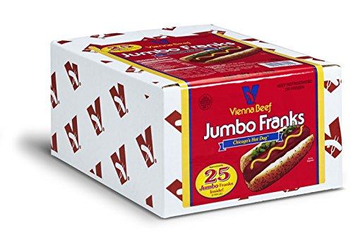 Vienna Beef Jumbo Skinless Franks 6