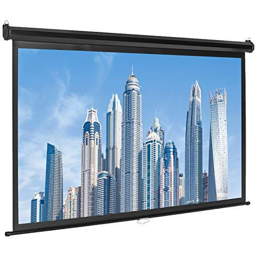 AmazonBasics 16:9 Pull Down Projector Screen - 80 Inch, White