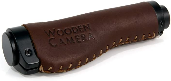 Wooden Camera Side Handle Grip Leather