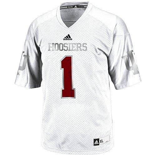 NCAA Indiana Hoosiers Men's 3-Stripe Football Jersey, X-Large, Black College Football Mens Jersey