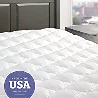 eLuxurySupply Five Star Mattress Pad with Fitted Skirt