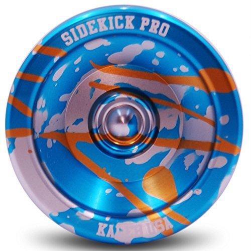 Blue Silver Gold Splashes Yo-Yo Professional Aluminum Sidekick Pro YoYo by Sidekick Yoyo