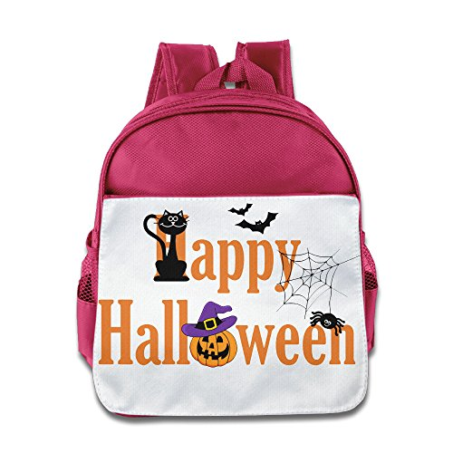 XJBD Custom Funny Halloween Boys And Girls School Bag Backpack For 1-6 Years Old Pink (Tales Of Halloween Trailer)