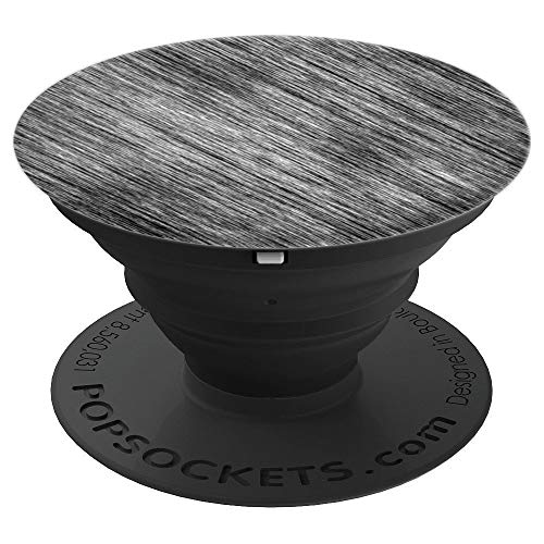 ETCHED SLATE STONE CHARCOAL BLACK & GREY COLORED - PopSockets Grip and Stand for Phones and ()