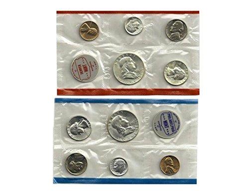 Uncirculated Franklin Mint - 1963 Mint Set 10 Coins P&D Mints Uncirculated