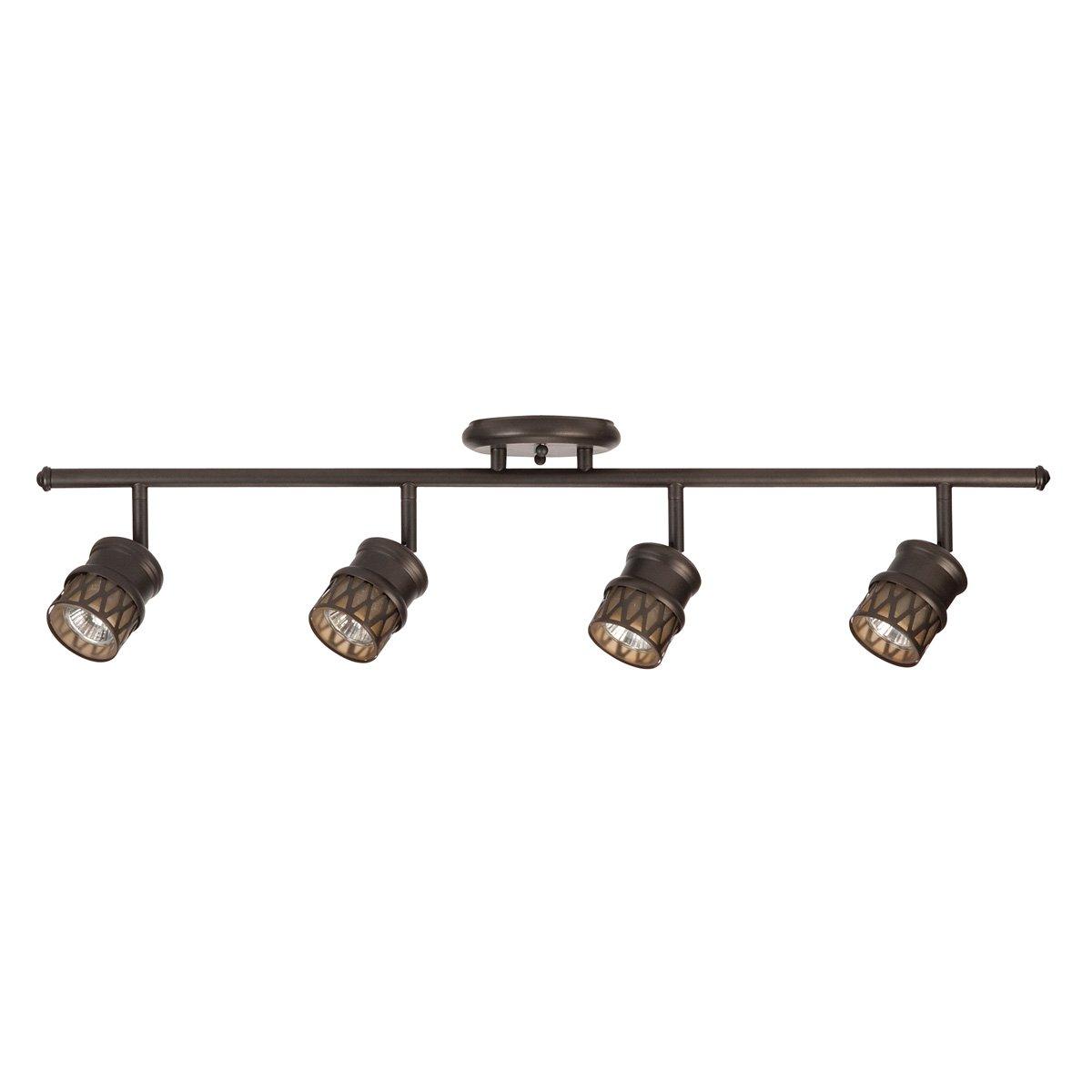 globe electric 59066 4 light s shape track bar with 4x gu10 50w bulbs brushed steel finish track lighting accessories amazoncom brass track lighting