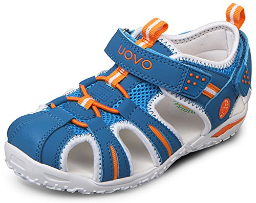 Poppin Kicks Boys' & Girls' Fisherman Closed Toe Athletic Sandals Dodger Blue 6 M US Big Kid