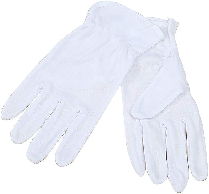 Namgiy - Guantes de algodón para Disfraz de policía de Esmoquin ...