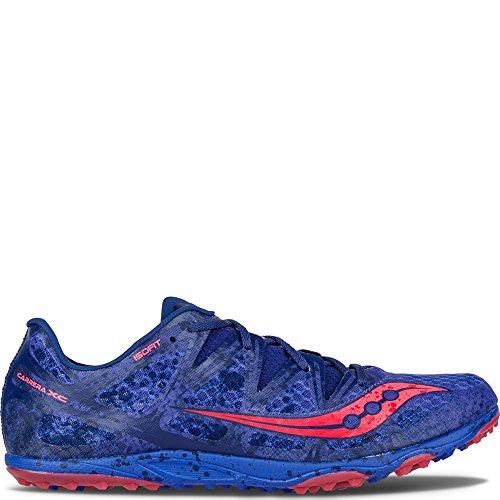Saucony Men's Carrera XC Flat Blue/Vizi Coral Sneaker 12 D (M)