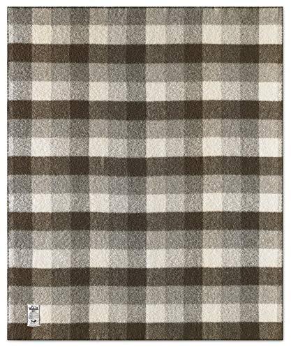 Woolrich Suffolk Buffalo Check Undyed 100% Wool Blanket (60