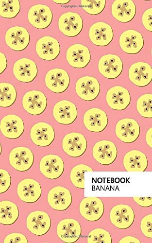 White Edition Fun notebook 96 ruled//lined pages 5x8 inches // 12.7x20.3cm // Junior Legal Pad // Nearly A5 Banana Notebook: