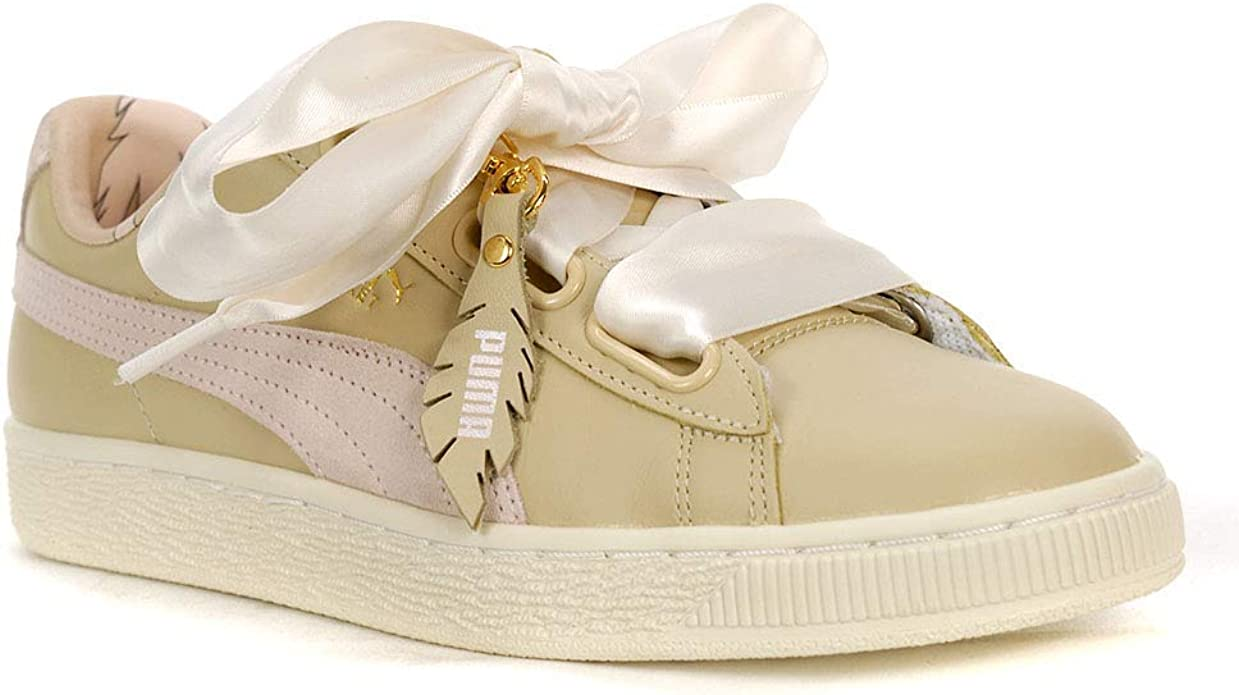 puma basket heart beige