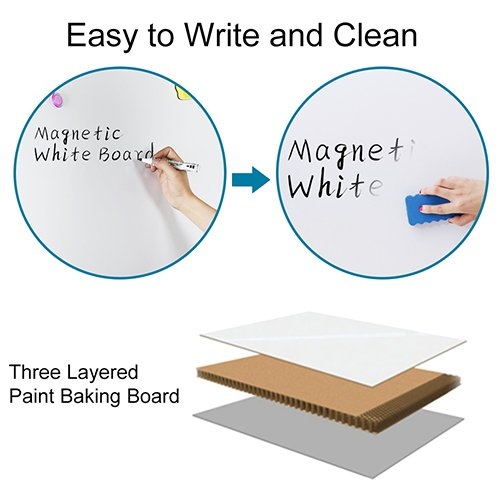 Magnetic White Board 24 x 18 Dry Erase Board Wall Hanging Whiteboard by maxtek (Image #2)
