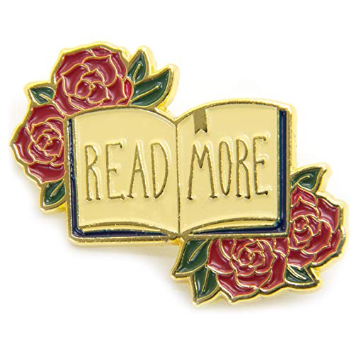 Ectogasm Womens Read More Gold Enamel Pin ()
