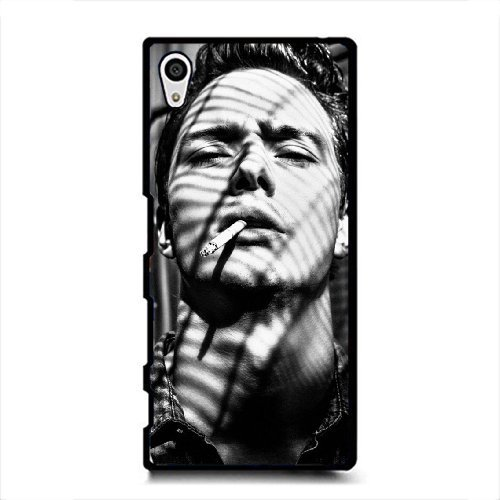 Price comparison product image Sony Xperia Z5 Case, Black and White Seris - Cool Handsome Man Pattern Fashion Trend Durable Hard Plastic Scratch-Proof Protective Case, Black-4