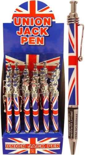 12 la bandera del Reino Unido bolígrafo retráctil de punta de ...