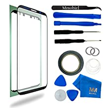 Front Glass for Samsung Galaxy S8 G950 Series 5.8 Inch Black Display Touchscreen incl 12 pcs Tool Kit / Pre-cut Sticker / Tweezers/ Roll of 2mm Adhesive Tape / Suction Cup / Metal Wire / Microfiber cleaning cloth MMOBIEL