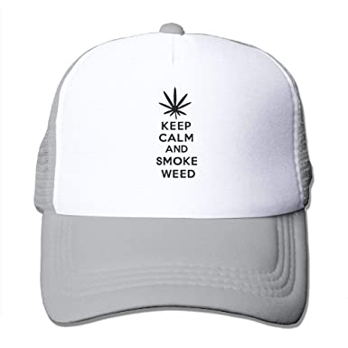 4225cf6af7db4 Keep Calm and Smoke Weed Truck Driver Hat Baseball Caps Unisex Adjustable  Sun Dad Hat at Amazon Men s Clothing store