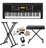 Best Yamaha Keyboards - Yamaha PSRE363 61-Key Keyboard with Knox Bench, Stand Review