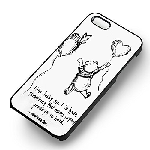 Winnie The Pooh Piglet Quote pour Coque Iphone 6 et Coque Iphone 6s Case (Noir Boîtier en plastique dur) G3X2QR