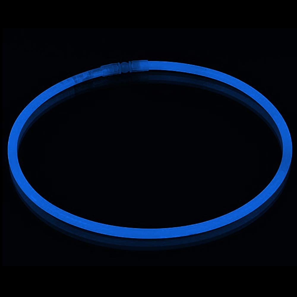 Lumistick Premium 22 Inch Glow Stick Necklaces with Connectors | Kid Safe Non-Toxic Glowstick Necklaces Party Pack | Available in Bulk and Color Varieties | Lasts 12 Hours (Blue, 600) by Lumistick (Image #8)