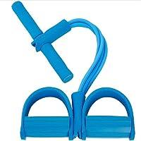 ZoneYan Pedaal elastisch touw, multifunctionele spanningstouw, 4 buizen multifunctionele beenoefenaar, Sit-up…