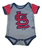St Louis Cardinals Infant Onesie Size 0-3 Months Bodysuit Creeper Gray