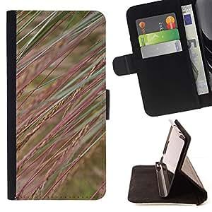 Momo Phone Case / Flip Funda de Cuero Case Cover - Campo Naturaleza Hierba Rye - Samsung Galaxy E5 E500