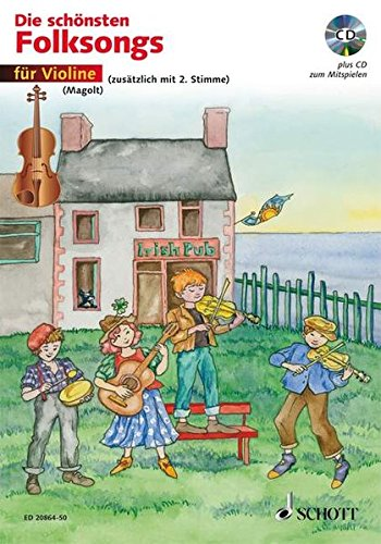 The Most Beautiful Folk Songs Edition With Cd 1-2 Violins German