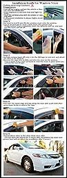 LT Sport SN#100000000394-201 For SCION TC Side Smoke Vent Window Acrylic Deflector 2pcs Visor