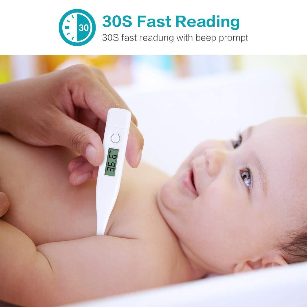 Oral Medizinisch RAXFLY 2 St/ück Digitales Fieberthermometer Erwachsene und Kinder,Baby Thermometer Unterarm Rektal