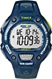 Timex Men's Quartz Watch with LCD Dial Digital Display and Blue Resin Strap T5K618SU