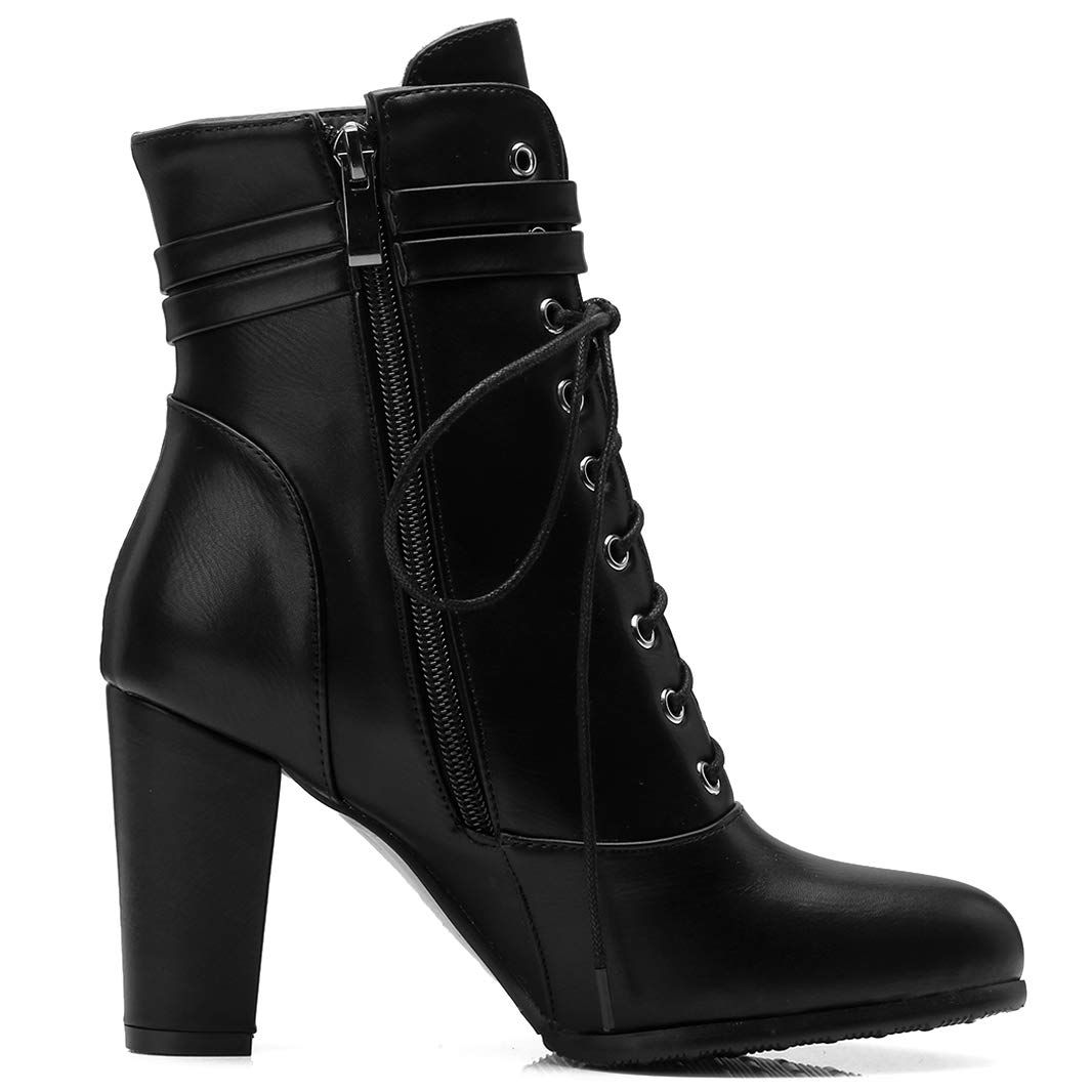 Mavirs Ankle-high Womens Magarb Block Heel Ankle-high Mavirs 9 cm Boots B07GKTP74G Boots 0e4dec