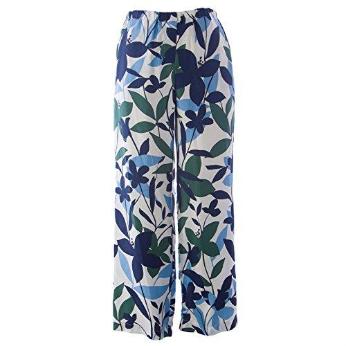 Max Mara Silk ('S Max Mara Women's Finale Floral Silk Drawstring Pants SZ 6 Turquoise)