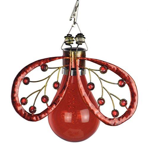Moonrays 90074 Solar Ladybug Umbrella Clip, Red (Lights Ladybug)