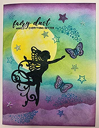 Card Making Scrapbooking Clear Silicone Stamp Set by Hot Off The Press Happy, Hello, Love /& Thanks Gifts and Home D/écor Inspiration at Your Finger Tips