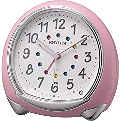 RHYTHM (Rhythm Clock) Fancy continuous second hand Alarm Abisko SR pink 8RE653SR13
