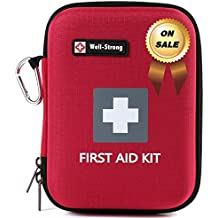 WELL-STRONG 128 Pieces First Aid Kit - Compact and Lightweight First Aid Bag - Essential for Home, Car, School, Office, Sports, Travel, Camping, Hiking or Any Other Outdoors Activities