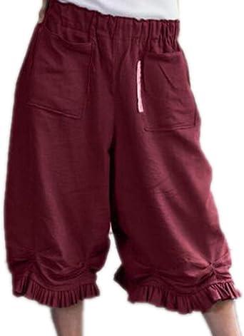 Pantalón Capri de Pierna Ancha para Mujer Pantalón Palazzo Corto ...