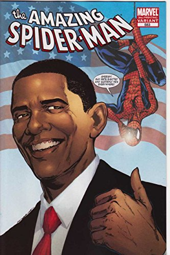 Printing Obama Cover (AMAZING SPIDER-MAN #583 VF/NM 3RD PRINTING BARACK OBAMA VARIANT COVER)