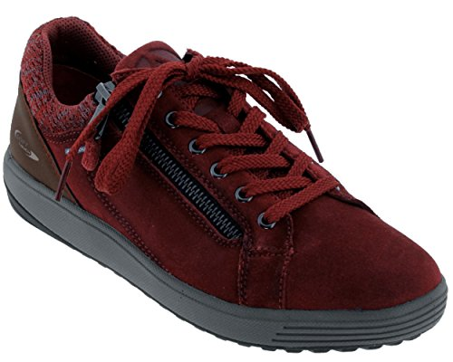Allrounder by Mephisto madrigal, Zapatillas de Running Para Mujer Rojo (Dk Winter Red C.suede Nw 48)