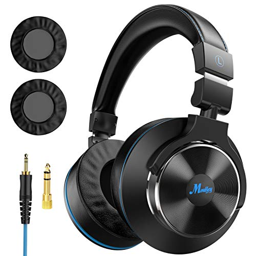 Moukey Wired Over Ear Headphones – Studio Monitor & Mixing DJ Stereo Headsets with Newest Japanese Drive and 1/4 to 3…