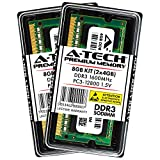 A-Tech 8GB Kit (2x 4GB) DDR3 1600MHz PC3-12800 204-pin SODIMM Laptop Notebook Computer Memory RAM Modules