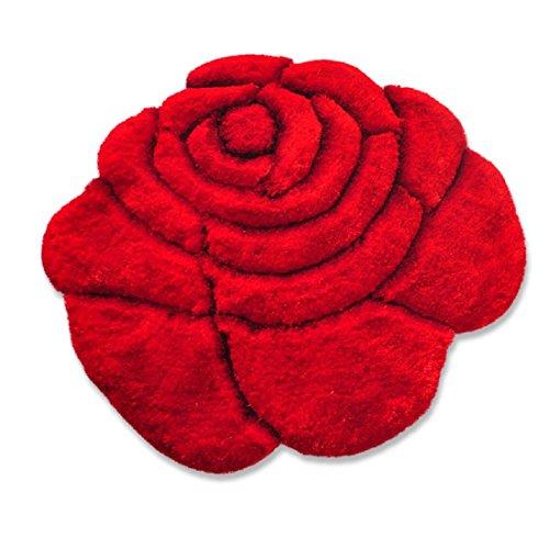 New 3D Flower Shape Soft and Smooth Shaggy Rug 100cmx100cm