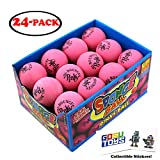 Original Hi Bounce Pinky Ball 2.5'' Large Pink Rubber Ball 24 Pack Bundle Multi Purpose Play Soft Ballet Dance Massage Ball Dog Ball with 2 GosuToys Stickers