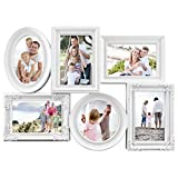 MCS Industries 6 Openings Multi-Shaped Collage Frame, 5 of 4 by 6-Inch and 1 of 5 by 5-Inch, White