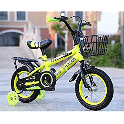 LINGS Foldable Bicycle Kids' Bikes 12 inch Children's Bicycle Rear seat Baby Bicycle Baby Carriage Men and Women Children Bicycle: Home & Kitchen