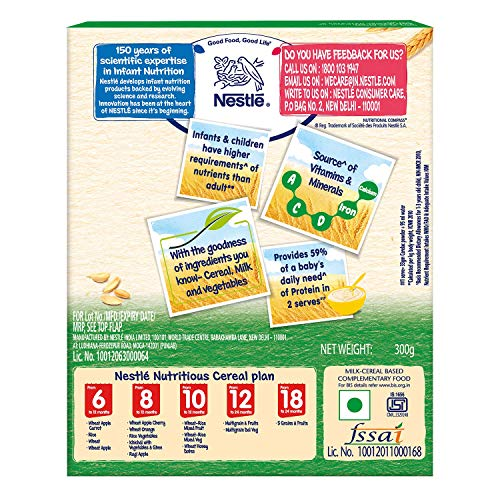 Nestlé Cerelac Infant Cereal Stage-4 (12 Months-24 Months) Multi Grain Dal Vegetable – 300g